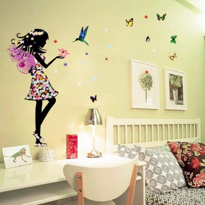 Beautiful Butterfly Elf Arts Wall Sticker For Kids Rooms Home Decor  Backdrop Wall Decal Baby Bedroom Vinyl Walls Beautiful Butterfly Wall  Sticker   Free ...