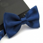 12cm x 6cm Men's Fashion Tuxedo Bowtie Butterfly Bow Ties for Men Wedding Party Polyester Wedding Party Bowtie Navy Blue