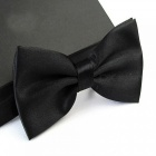 12cm x 6cm Men's Fashion Tuxedo Bowtie Butterfly Bow Ties for Men Wedding Party Polyester Wedding Party Bowtie Black