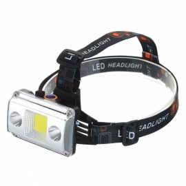 Headlamps 3 Modes COB LED Emergency Light For Fishing Hunting Hiking Camping Outdoor Activities Lighting Headlight Cold White/Black