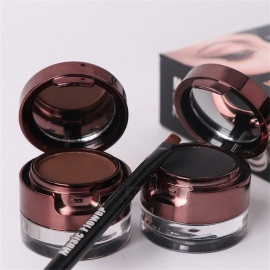 Music Flower Eyebrow Enhancers Brown Black Eyeliner Waterproof Eyes Makeup Eyebrow Enhancer With Brush