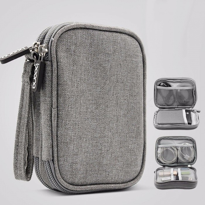 c655f40aa92c Travel Electronic Accessories Cable Organizer Bag Portable Case SD Cards  Flash Drives Wires Earphones Double Layer