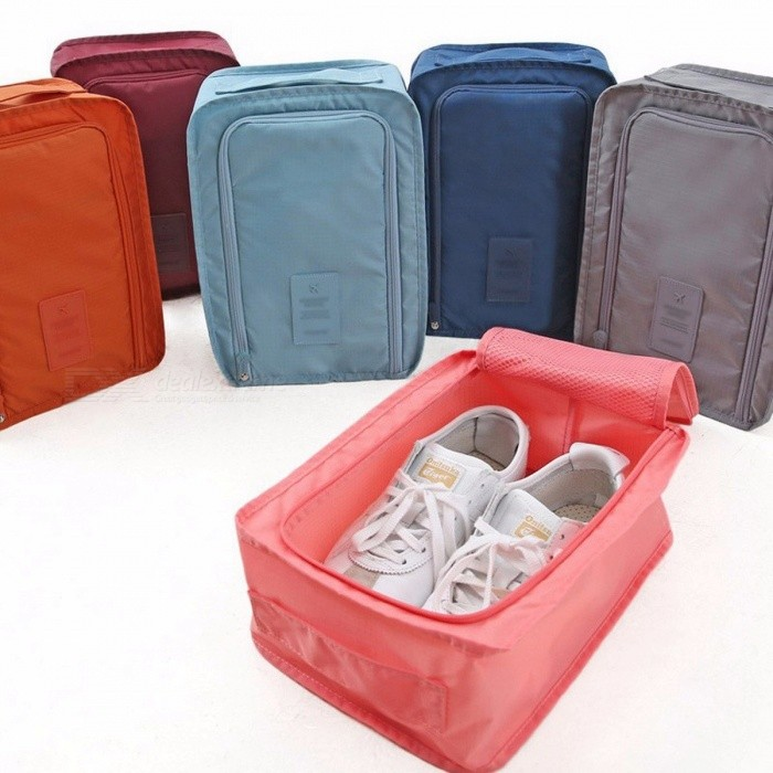 Storage Bags Waterproof Polyester Tote Travel Portable Zipper Large Home Multifunction Shoe Organizer Storage Bag Sorting Pouch Convenient