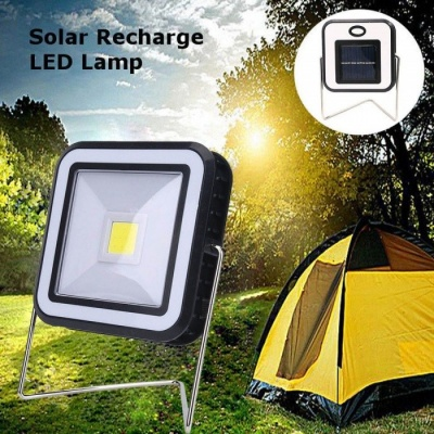 Portable Practical Solar Power USB Rechargeable Bright COB LED Camping Lantern 2-modes Durable Outdoor Emergency Light White/0-5W