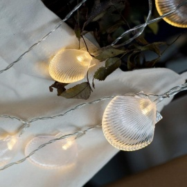 Sea Shell Pendants LED String Light For Christmas Tree Party BBQ Wedding Holiday Decor Photo DIY Props Warm White/0-5W