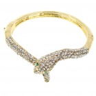 Mode imitiert Diamant Metal Snake Style Armband - Gold