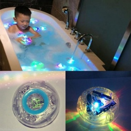 Baby Funny Colorful Bathroom LED Light Bath Toy Kids Bathing Watertight Waterproof in Tub Babies Children Toys Gift Multicolor