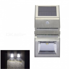 RXDZ Solar Sensor Light Body Sensing Wall Light LED Garden Light Stainless Steel LED Solar Light