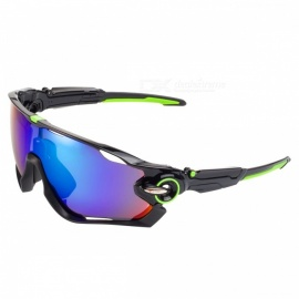 Sport polarized sunglasses WG9270 black + green frame blue REVO new outdoor sports riding sunglasses