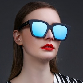 GM Stylish Black Frame Blue Lens UV400 Protction Sunglasses