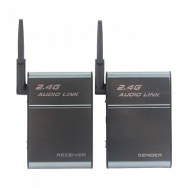 BX-501E 200 Meters Long Distance  2.4GHz Wireless Speaker Transmitter + Receiver Set - Grey + Black