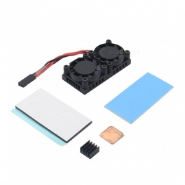 Dual Fan Heat Sink with Double Cooling Fan for Raspberry Pi 3 Model B Plus / 3B / NESPi Case Pro