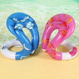 Inflatable Swim U-armpit Floating Rings Pool Toys Children Adult Water Toy Swimming Laps Baby Float Circle Kids Adults Pink