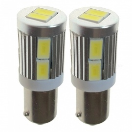 Senart 2PCS BA9S 5730 SMD 10 LED Cold White Reading Lights 12V