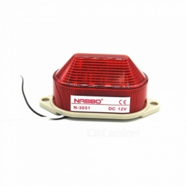 RXDZ DC 12V rojo LED bombilla de señal de advertencia lámpara de torre N-3051 constante flash