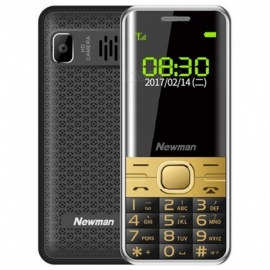 Newman M560 2.4inch LED Dual SIM dual standby mobile phone -  Black + Gold