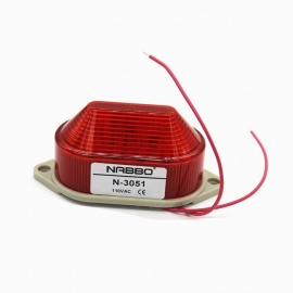 RXDZ Industrial AC 110V Red LED Warning Light Bulb Signal Tower Lamp N-3051 Steady Flash