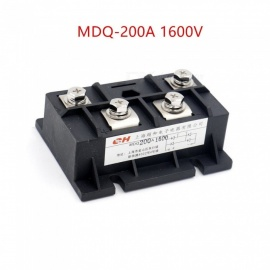 RXDZ Bridge Rectifier MDQ-200A 200A 1600V Full Wave Diode Module Single Phase - Black