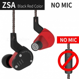 KZ ZSA Metal Earphone Armature And Dynamic Hybrid In Ear Monitors Sport Headset Earbuds HiFi Bass Noise Cancelling Headphones