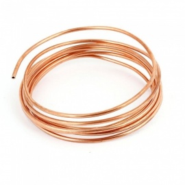 BTOOMET 2M 6Ft Long 2.5mm Dia Copper Tone Refrigeration Coiled Tubing Coil