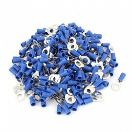 "BTOOMET RV2-6 Pre Insulated Ring Terminals with 1000 Piece for 1/4"" Stud and AWG 16-14 Wire, Blue"