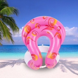 Inflatable Swim U-armpit Floating Rings Pool Toys Children Adult Water Swimming Laps Baby Float Circle Kids Adults - L Pink