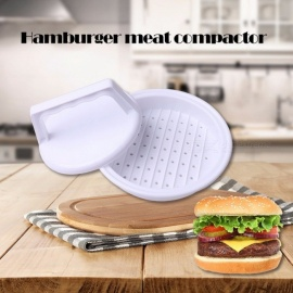 DIY Hamburger Beef Meat Press Tool Grill Maker Plastic Burger Cooking Hot Kitchen Hamburger Mold Food-Grade Plastic White