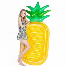 190CM Inflatable Pineapple Giant Pool Float Toys Swimming Ring Swimming Circle Beach Inflatable Mattress Sea Party Yellow