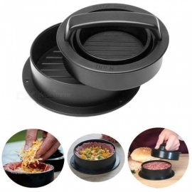 Kitchen Manual Hamburger Presses Stuffed Burger Maker Cutlets Patty Maker Mold Kitchen Gadgets Patty Mold Tool Black