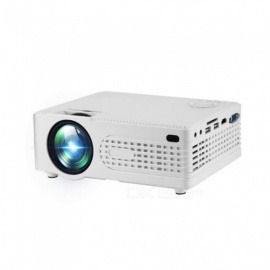 New AK80-1 projector Mini Mini LED portable home office HD 1080P projector US Plug White