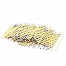 BTOOMET 100 Pcs P100-E2 1.5mm Convex Tip Spring Testing Probes Pin 33.3mm Long