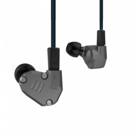 KZ ZS6 Balanced Armature With Dynamic In-ear Earphones Hybrid HiFi Headphones - Gray (No Microphone)