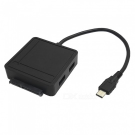 Square Type-C 3.0 to SATA III Adapter with USB 3.0 HUB / TF / SD Reader 6Gbps High Speed