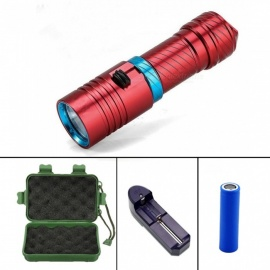 XM-L2 Waterproof Dive Underwater 100 Meter LED Diving Flashlight Torch Lamp Light Camping Lanterna With Stepless dimming
