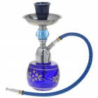 Vintage Shisha Water Pipe Set - Blue + Silver