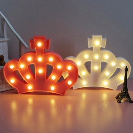 Imperial Crown Fairy Nightlight ABS Plastic Led Table Desk Lamp Home Room Atmosphere Wedding Decoration Creative Gift White