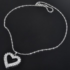 Elegant Crystal Alloy Heart Shaped Pendant Necklace