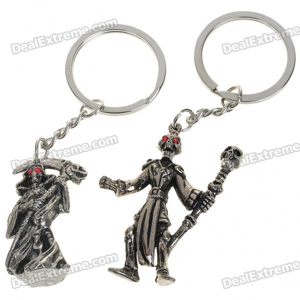 Vintage Alloy Skeleton Man Skull Style Keychains (2-Pack) парафин oneball x wax 5 pack assorted