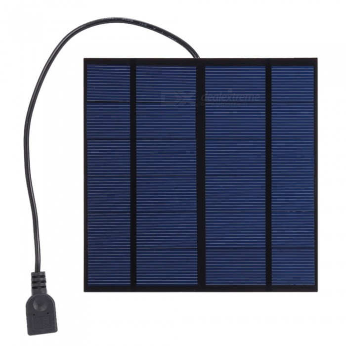 JEDX 3W 6V USB Output Monocrystalline Silicon Solar Panel Charger Mobile Phone Charger