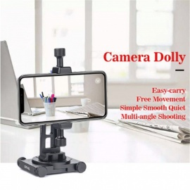 Sunwayfoto CPV-01 Aluminium Cell Phone Panorama Head Stand Dolly support smartphone photography Accessories without Rail Slide