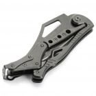 Cool Metal Folding Pocket Knife with Clip - Black