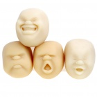 Cao Maru Stress Balls 4 Lovely Faces Set - Pleasant/Anger/Crying/Laughing (White)