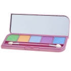Cosmetic Make-Up 5-Colors Eye Shadow Kit with Mirror + Brush