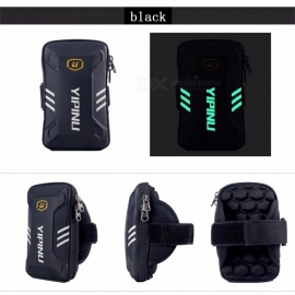 Yipinu Waterproof Small Fitness Running Bag Wallet Jogging Phone Holder Purse Armband Gym Arm Bag Sports Accessories Black