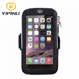 Yipinu Running Bags Sports Fitness Exercise Running Gym Armband Pouch Phone Holder Touch Case Bag For Cell Phone Black