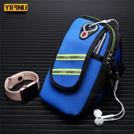Yipinu YA9 Cooling Lycra Running Armband Wrist Arm Bag Jogging GYM Cover Case Pouch Sports Cell Phone Bag Holder Black