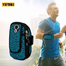 "YIPINU Exercise Arm Bags Men Women 5.0"" 6.0"" Cell Phone Arms Package Sports Equipment Jogging Run Bag Waterproof Gym Bag Red"