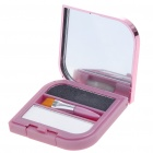 Cosmetic Make-Up Dual Colors Eyebrow Powder Kit with Mirror + Brush