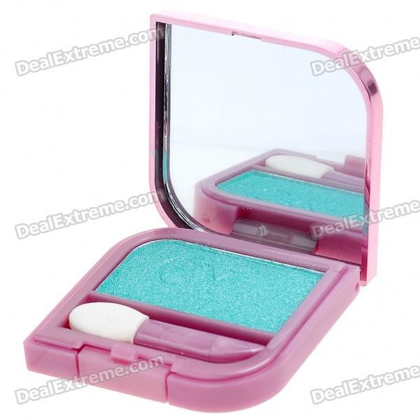 Cosmetic Make-Up Eye Shadow Kit with Mirror + Brush - Green