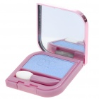 Cosmetic Make-Up Eye Shadow Kit with Mirror + Brush - Light Blue